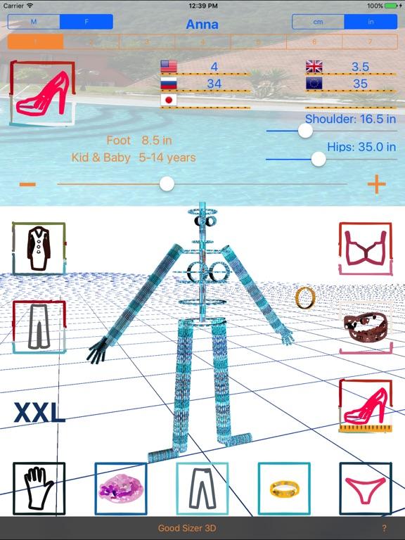 Good Sizer 3D - конвертер размеров одежды и обуви Скриншоты5