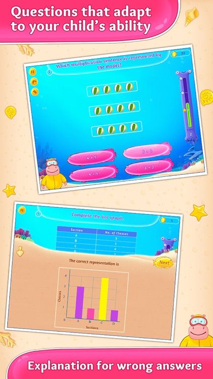 3rd Grade Math. Multiplication, Fractions and more app image