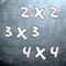 Esta aplicación está enfocada a los niños que empiezan en el colegio con las tablas de multiplicar