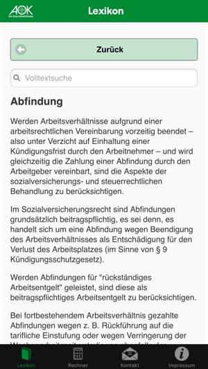 Aok Lexikon En App Store