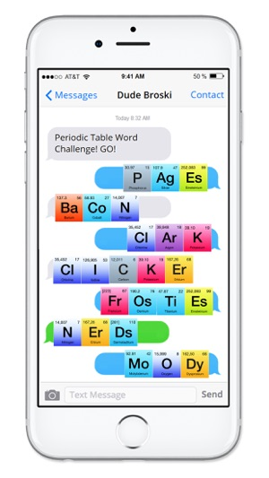 Rainbow periodic table of elements sticker pack on the app store urtaz Images