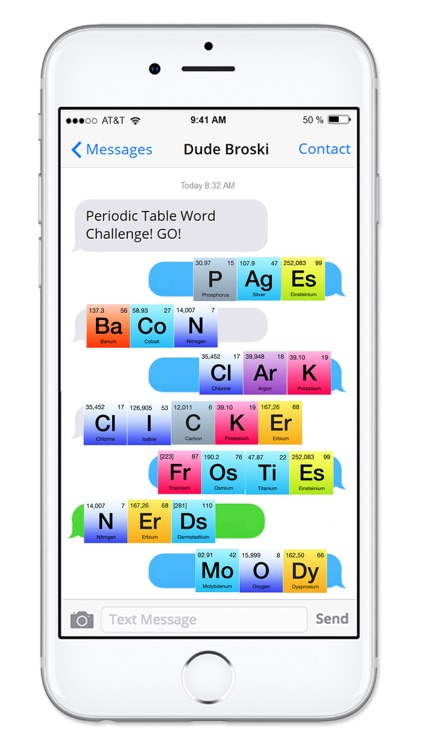 Rainbow periodic table of elements sticker pack by veritas design group rainbow periodic table of elements sticker pack urtaz Image collections