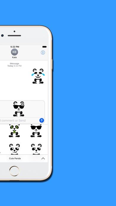 Panda : Cute & Adorable Stickersのスクリーンショット5