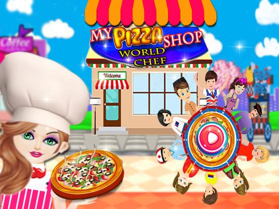 私のピザショップ世界のシェフ、ファーストフードクッキングゲームのおすすめ画像1