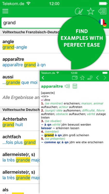 Dictionary German - French