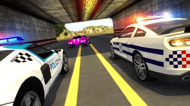 Police Car Chase Smash vs Criminal Gangster Escape screenshot-4