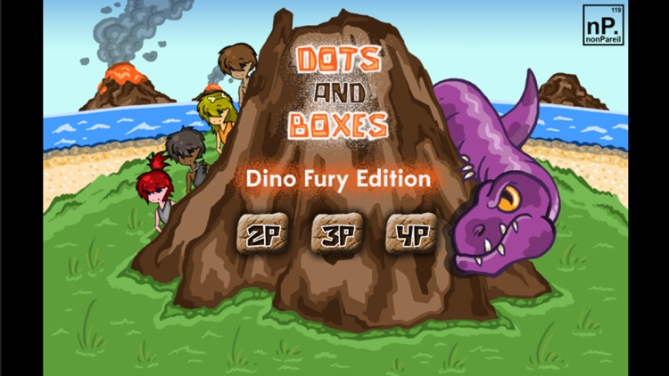 Dots and Boxes - Dino Fury Edition
