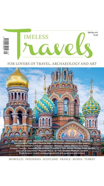 Timeless Travels Magazine - for lovers of travel, archaeology and art