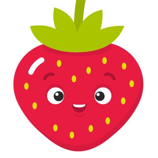 Fruit Stickers: Strawberry, Banana, Orange