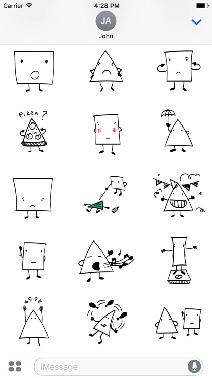 Triangle & Squares stickers for iMessage
