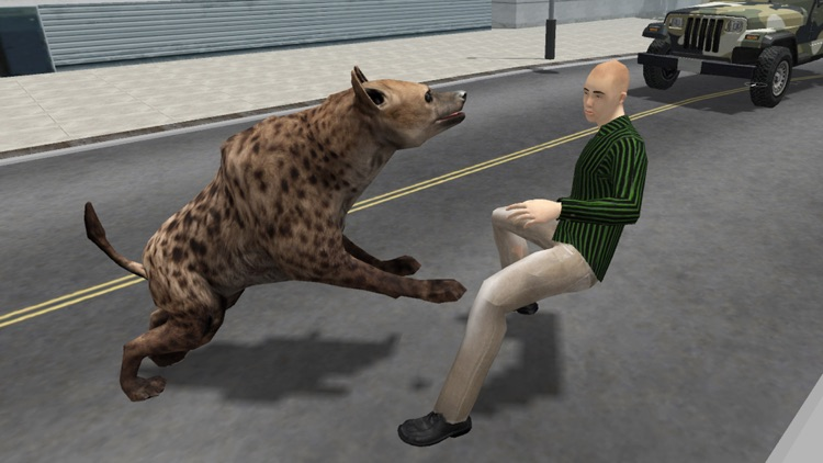 Hyena Rampage : Wild Animal Simulator 2017 screenshot-3