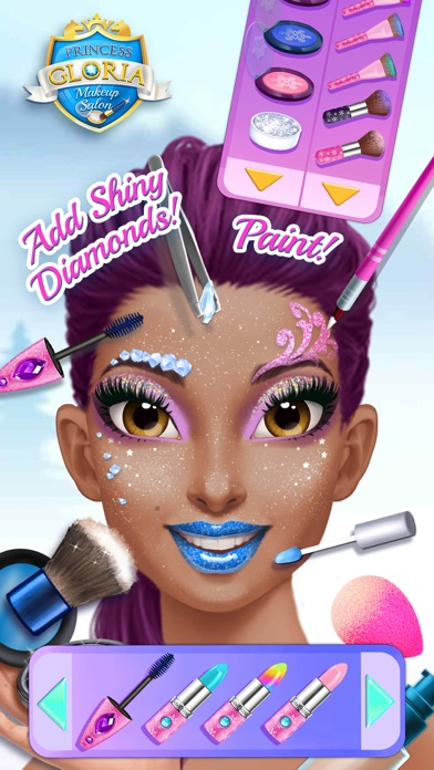Princess Gloria Makeup Salon - No Ads screenshot 4