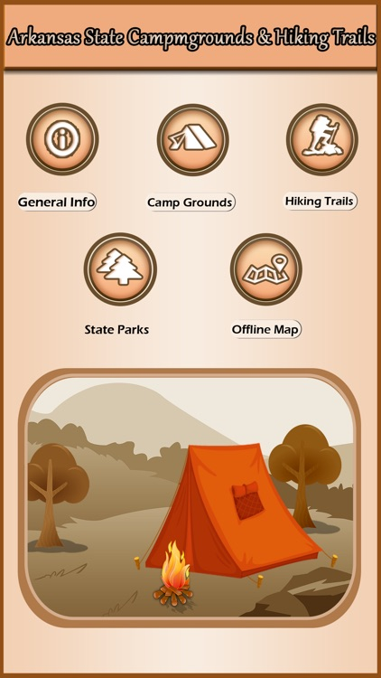 Arkansas Campgrounds & Hiking Trails Offline Guide