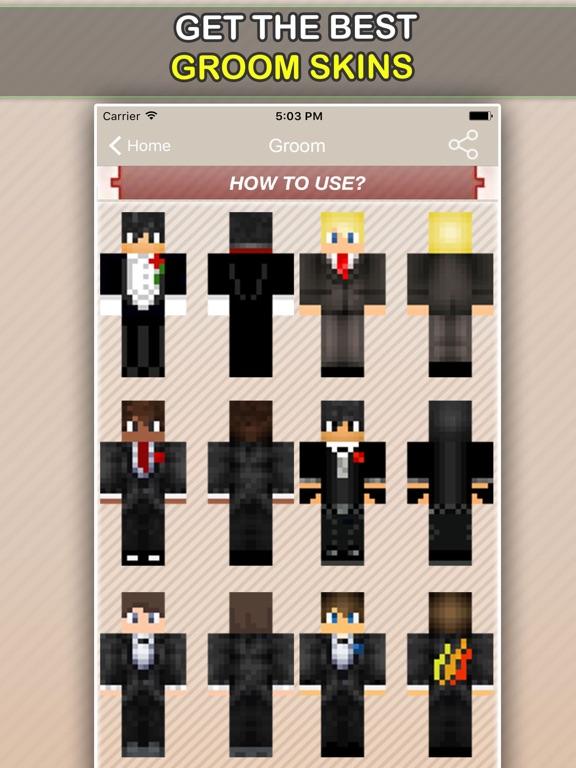 Wedding, Bride and Groom Skins For Minecraft PE-ipad-1