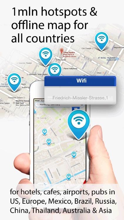 wifi password map and hotspots analyzer
