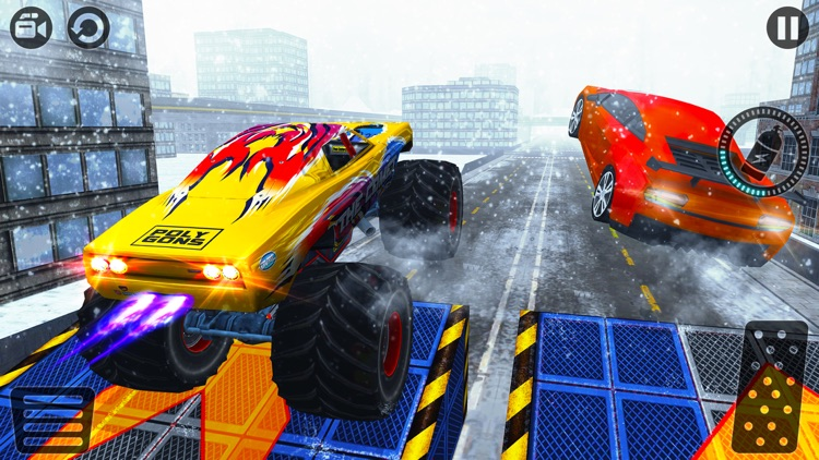 Crazy 4x4 Monster Truck Racer 2017-Stunt Racing 3D screenshot-2
