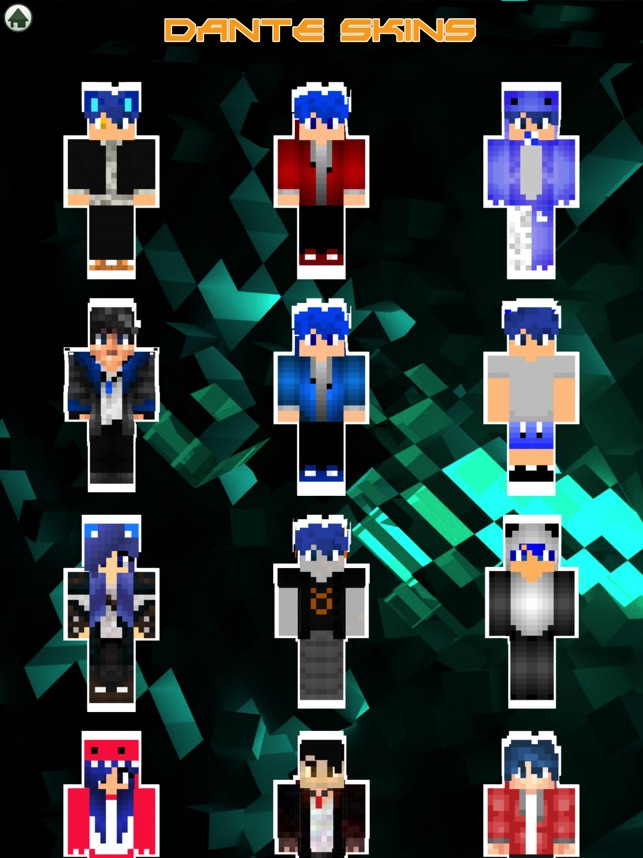 Cute Couple Dante Kawaii Skins For Minecraft PE On The App Store - Skin para minecraft pe kawaii