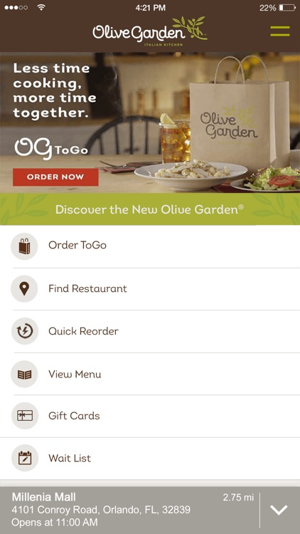 Olive Garden Italian Kitchen screenshot-0
