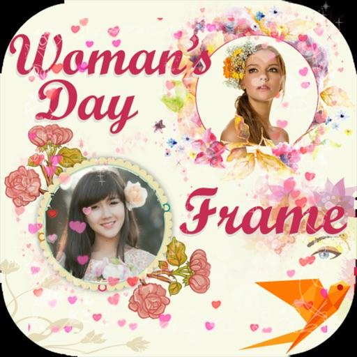 Women Day Photo Frame -Wonder Photo,Camera sticker