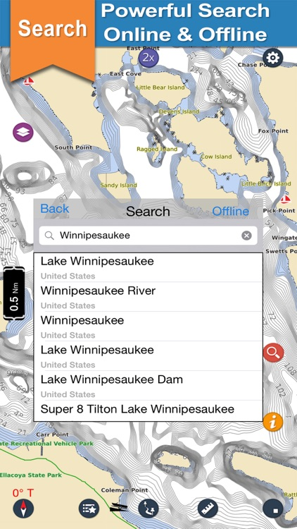 Lake Winnipesaukee offline chart for boaters screenshot-3