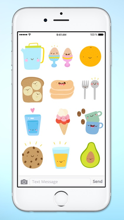 Super Cute Food Sticker Pack screenshot-3