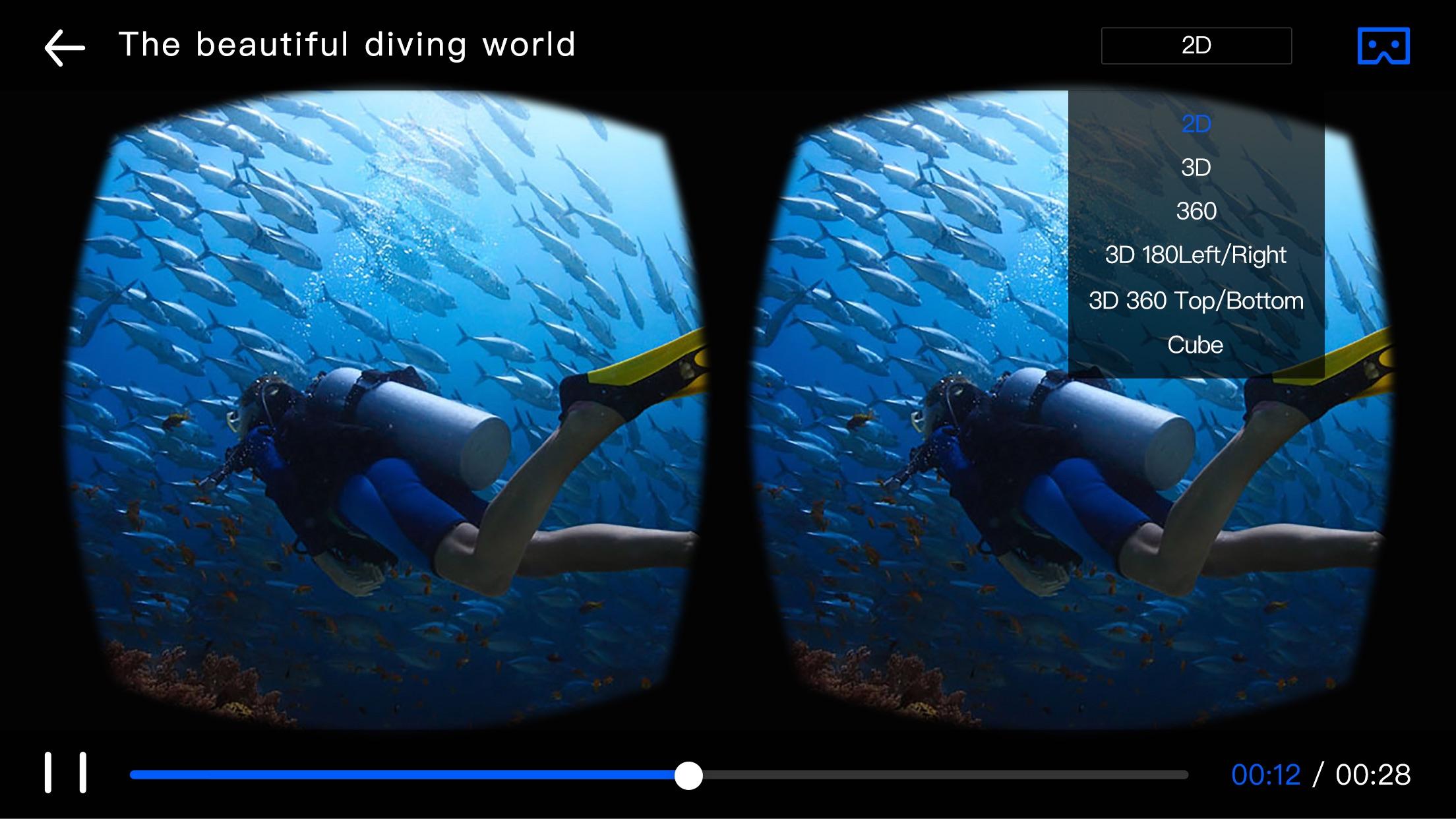 Go VR Player- Virtual Reality 3D Video Player Screenshot