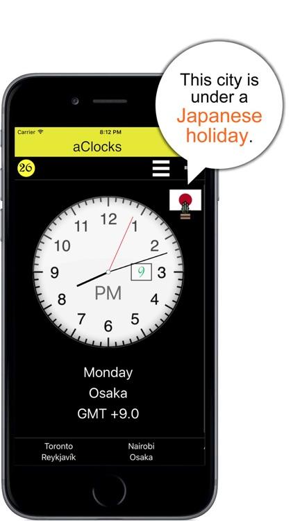 aClocks - International Clocks screenshot-3