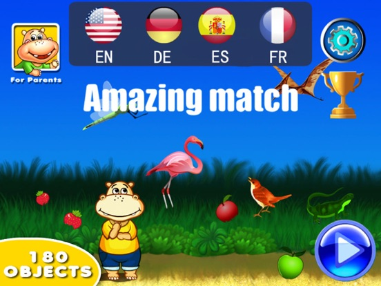 Amazing Match-Word Learning Games for Kids для iPad