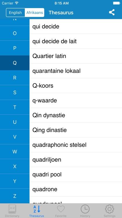 English to Afrikaans Offline Dictionary screenshot-4