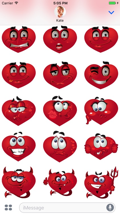 Hearts emoji - Stickers for iMessage