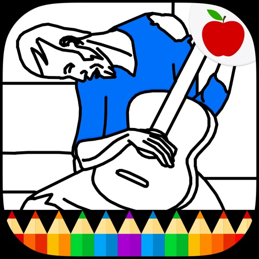 Picasso Coloring: Coloring Book for Adults