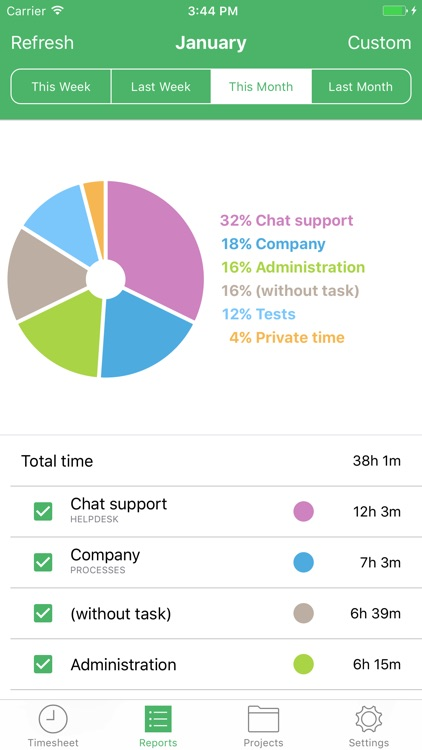 TimeCamp Time Tracker screenshot-3