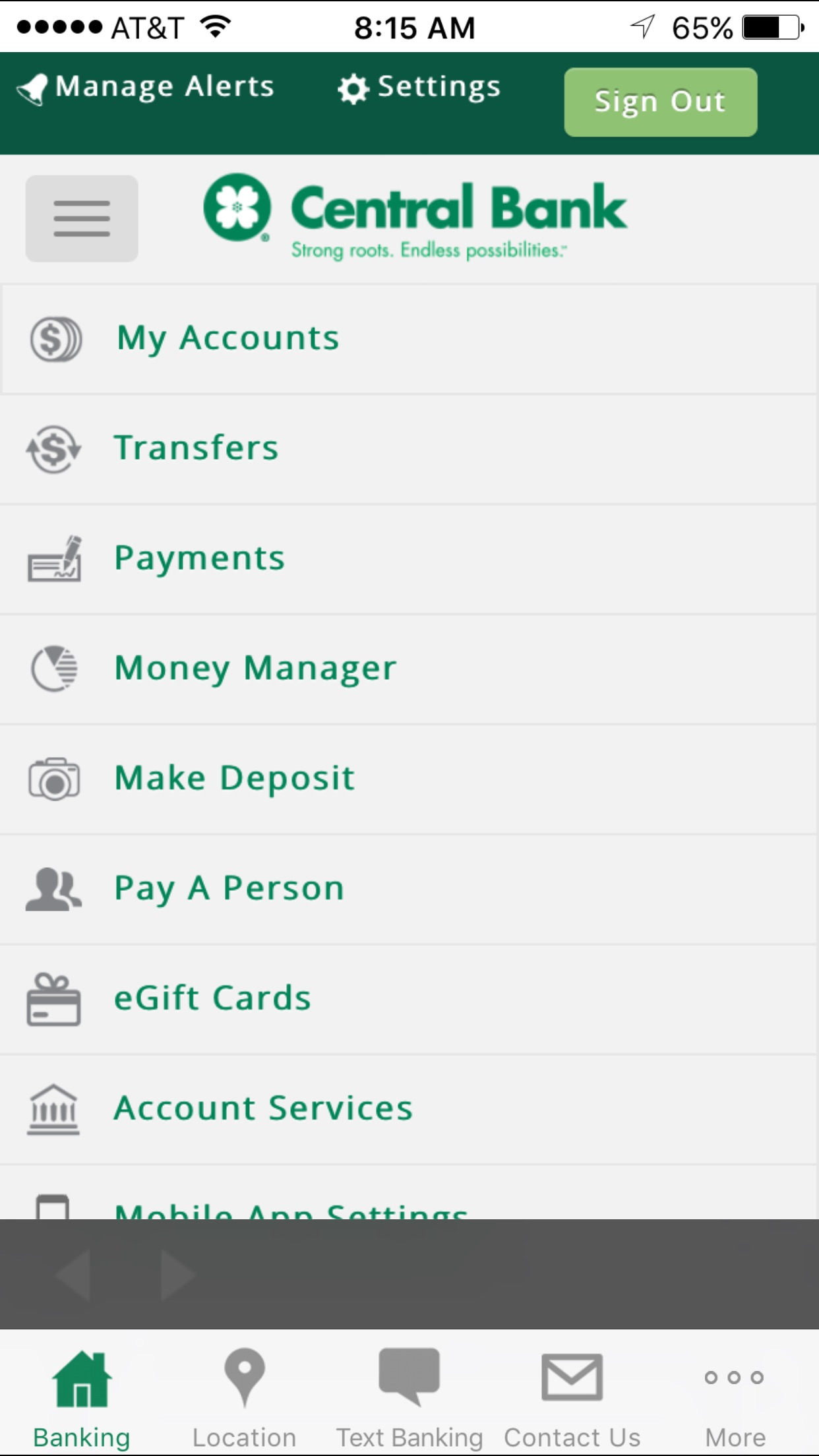 Central Bank - Mobile Screenshot