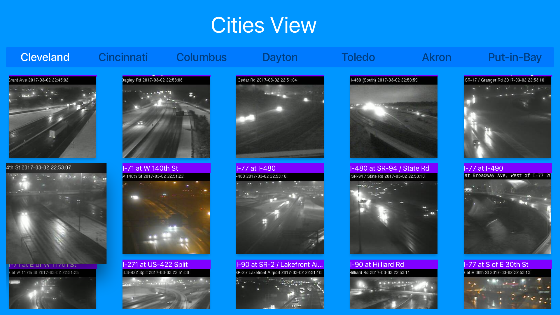 Ohio Cincinnati Cleveland Traffic Cameras - Travel & Transit