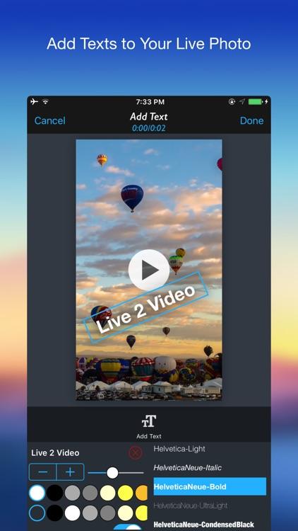 Live 2 Video - Convert Live Photo to Video screenshot-4
