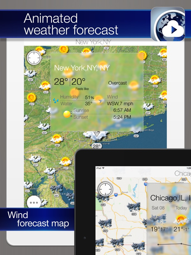 Weather Forecast and Wind Map on