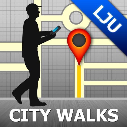 Ljubljana Map and Walks, Full Version