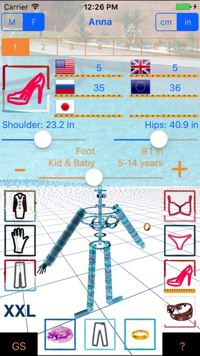 Screenshot for Good Sizer 3D - size converter of clothes in Chile App Store