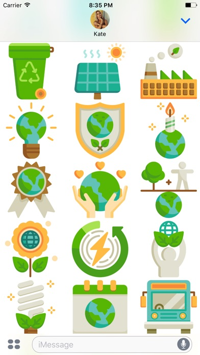 Earth Day Stickers Pack app image