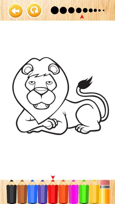 Wonder Animal Safari Coloring Book Games For Kids