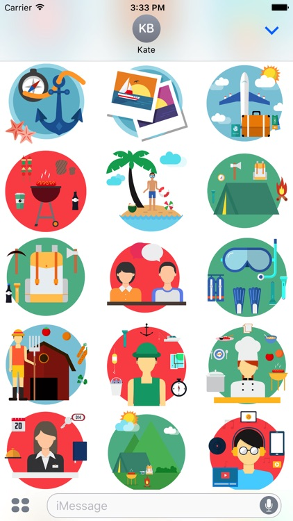 Travel - Stickers Pack for iMessage screenshot-3