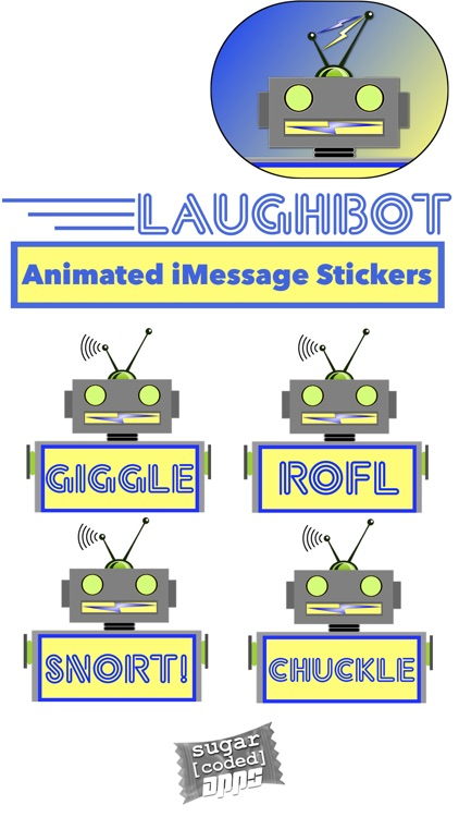 LaughBot: Animated Robot Stickers