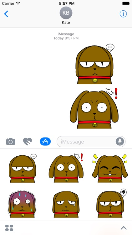 Bulldog Stickers for iMessage Daily Use