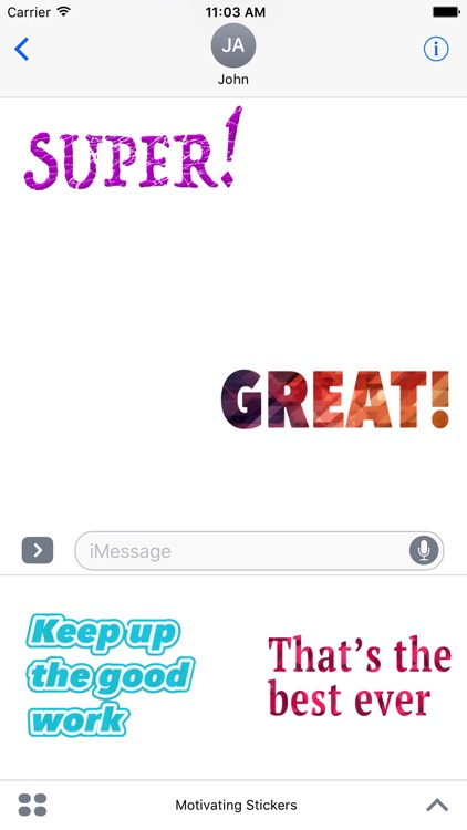 Motivating Stickers For iMessage