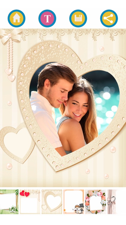 New wedding photo frames – Album & text editor screenshot-3