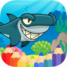 Activities of Shark & SeaAnimal Coloring Book Games
