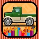 我的车游戏为孩子们免费着色书应用 icon