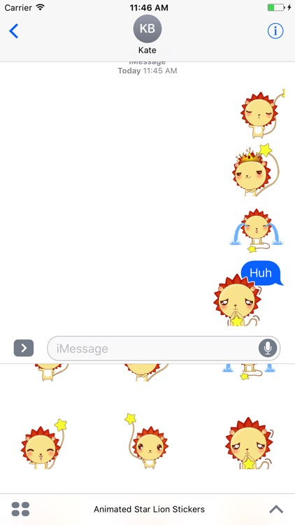 Animated Star Lion Stickers For iMessage screenshot-4