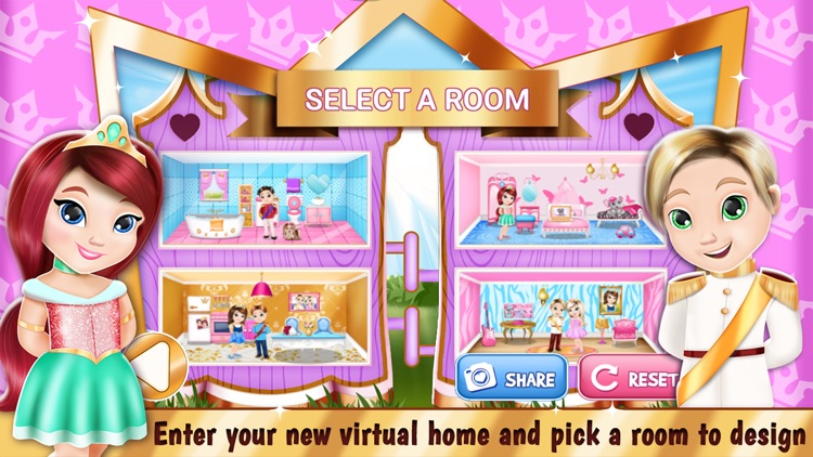 Princess Room Decoration Game – Dollhouse Designer screenshot-4