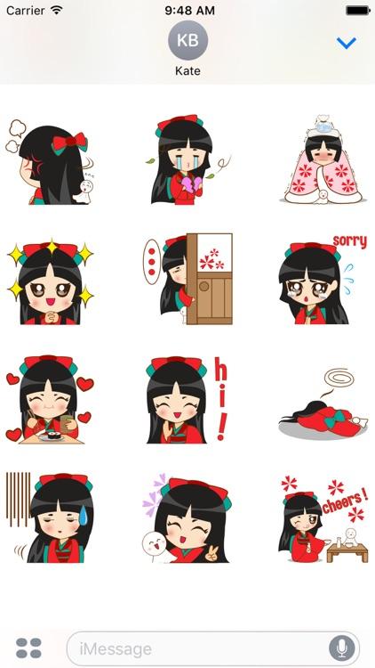 Izumi, the japanese princess for iMessage Sticker